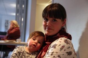 Eva Gikling og lille Arabella (11 mnd)